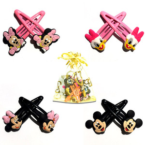 1Pairs Mickey Minnie Hair Clip Cartoon Hairgrips Hairpin Baby Girls Hair Accessories Unicorn Hair Ornaments Kids Christmas Gifts(China)