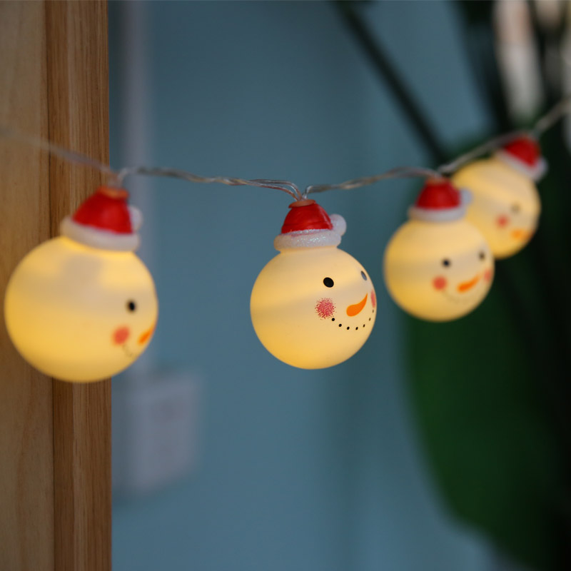 HOT Christmas Snowman LED string light battery plastic ball 3m/6m navidad  light fairy lights christmas tree hanging decoration-in Pendant & Drop  Ornaments ... - HOT Christmas Snowman LED String Light Battery Plastic Ball 3m/6m