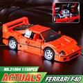 NUEVA LEPIN 21004 F40 Deportes Car1 158 unids Modelo Kits de Construcción Juguetes de los Ladrillos Bloques Niños regalo de Navidad 10248