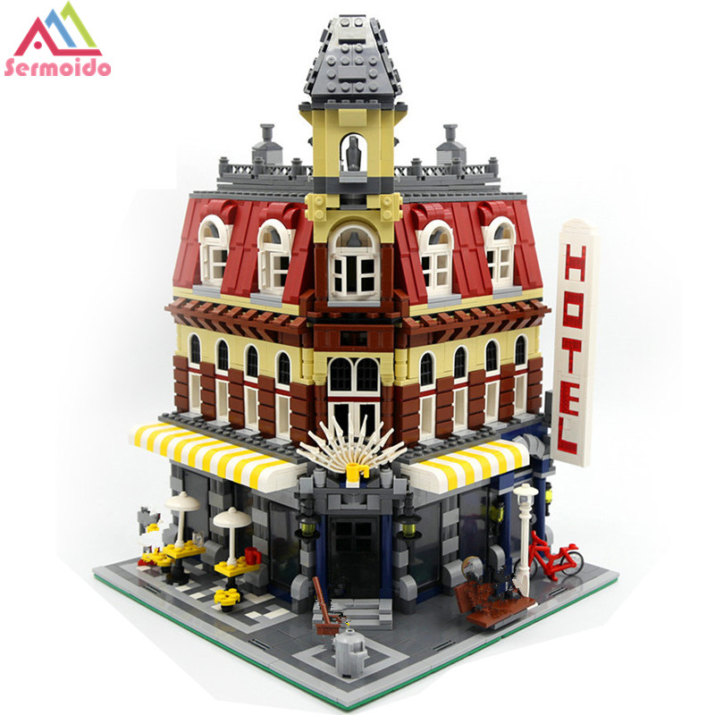2133Pcs 15002 Cafe Corner Model Building Kits Blocks Kid DIY Brick Toy Gift Compatible With Lego 10182 new lepin 15002 2133pcs cafe corner model building kits blocks kid diy educational toy children day gift brinquedos 10182