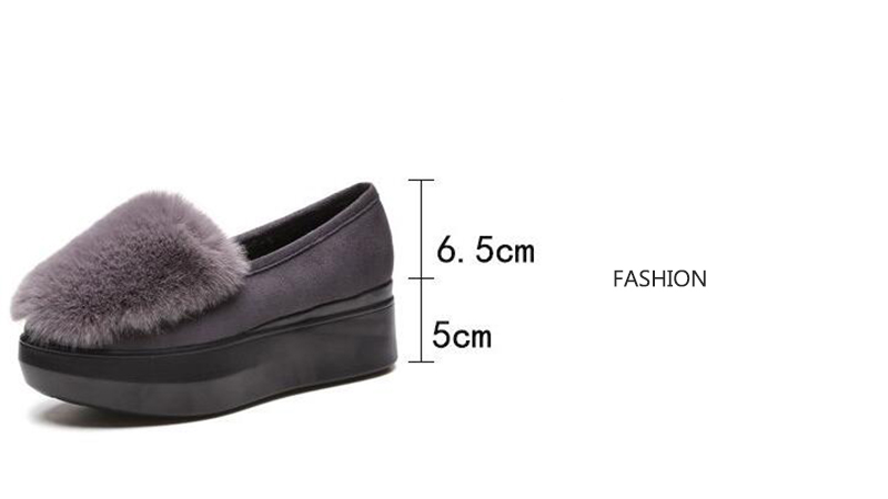 COOTELILI Winter Women Shoes Loafers Plus Size Creepers Flat Platform Casual Shoes Slip On Flat Shoes For Female Moccasins  (14)