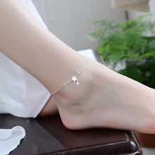 TJP New Arrival 925 Sterling Silver Bracelets For Women Party Jewelry Trendy Girl Female Silver Anklets Accessories Christmas