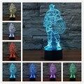 Usb Conduziu a Lâmpada de comércio exterior da América Colorido 3 D Tridimensional 3d Visual Criativo Luz Interruptor da Luz de Toque