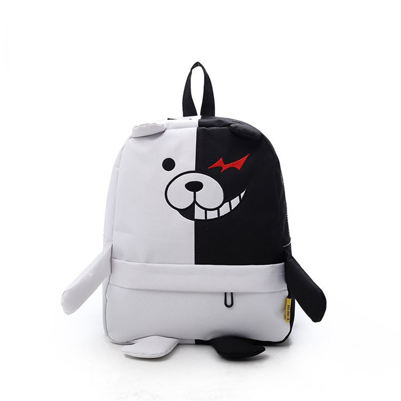 Anime Danganronpa Dangan Ronpa Monokuma Nylon Backpack Large Capacity Student School Bag Mochila Feminina Travel Backpack