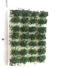 28pcs/lot Simulation Model green Cluster Grass   For Sand Table Making Diy Miniature Landscape Material