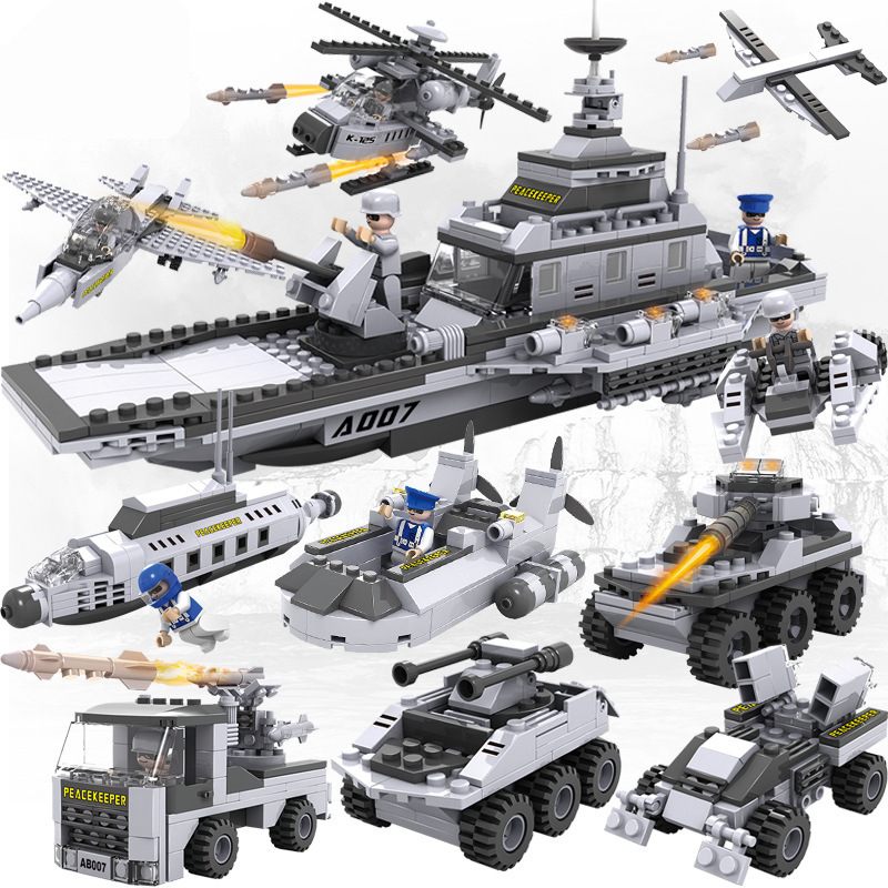 Military Star Wars Spaceship Aircraft Carrier Helicopter Tank War DIY Building Blocks Sets Educational Kids Toys Gifts Legolieds kaygoo building blocks aircraft airplane ship bus tank police city military carrier 8 in 1 model kids toys best kids xmas gifts