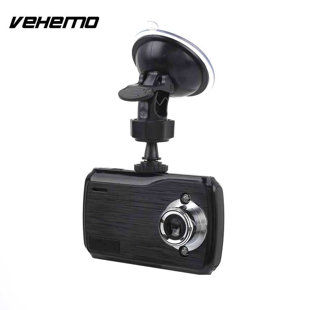 Vehemo HD 1080P 2.4 Inch Dash Cam Driving Recorder Parking Monitor Car DVR Loop Recording Auto On/Off Portable Automobile