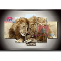 diamond painting lion picture of diamond mosaic 5d diy diamond painting full drill hobbies and crafts diy painting triptych