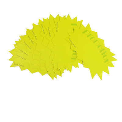 10 Pcs Supermarket Promotion Printed Advertising Pop Price Tags Yellow Green