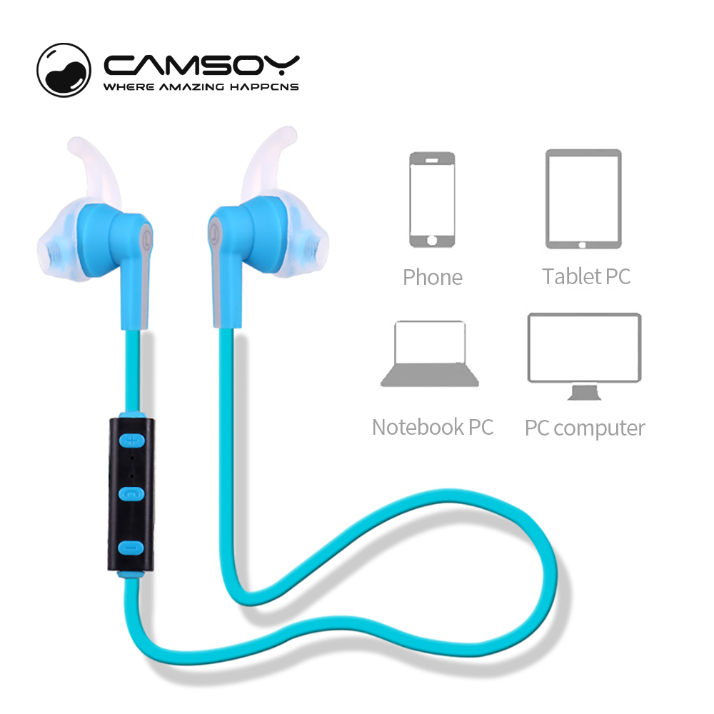 Camsoy H6 Wireless Bluetooth Earphone Headphone Stereo Mic Headset for Phone Sport Headphone