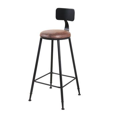 Nordic Simple Iron Bar Stool  Leisure Coffee Shop Tea Shop Wall Hanging High Barstools Solid Wood Cashier Bar Stools Modern