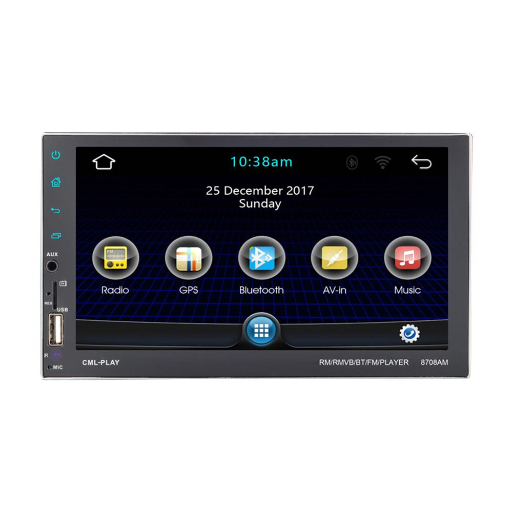 Android 7.1 Car Multimedia Player 2DIN 7'' Touch Screen QUAD-core GPS Navigation Bluetooth FM WiFi Radio Video Audio MP5 Player 7 2din touch screen universal car multimedia video mp5 player auto remote control bluetooth gps navigation fm radio autoradio