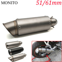 Motorcycle SC exhaust escape Modified Exhaust Muffler DB Killer For KAWASAKI GTR1400 Concours Z1000SX NINJA 1000 H2 H2R ZX10R laser mark motorcycle modified muffler sc carbon fiber exhaust pipe for kawasaki gtr1400 concours h2 h2r monster zx9r