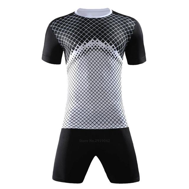 Costom Soccer Tracksuit Men Women soccer jerseys set survetement football jersey 2017 sports kit shirts + shorts maillot de foot