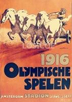 1916 Berlin Germany The Sixth Session Olympic Games Emblem Nostalgic Retro Matte Kraft Paper Poster