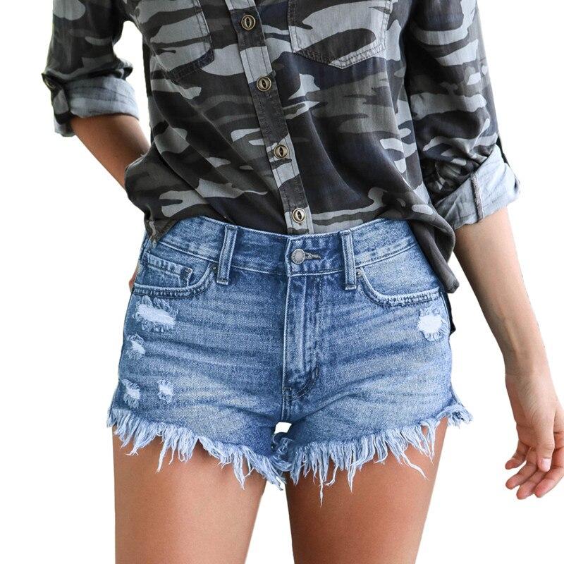 Short   Jeans Fashion High Waist Casual Denim   Shorts   Women 2019 Hole Ripped Summer Tassel Streetwear Sexy black   shorts   hotpants