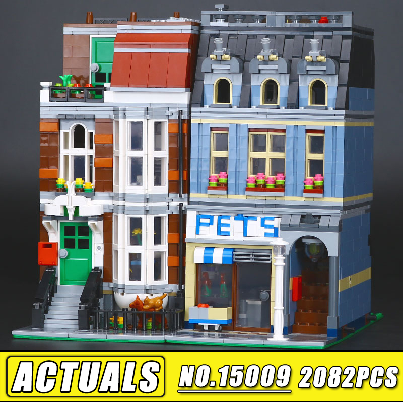 2128pcs LEPIN 15009 City Series Creator set Pet Shop Model Building Kits Blocks Bricks DIY Educational Toy 10218 Gift for Boy decool 3117 city creator 3in1 vacation getaways building block 613pcs diy educational toys for children compatible legoe