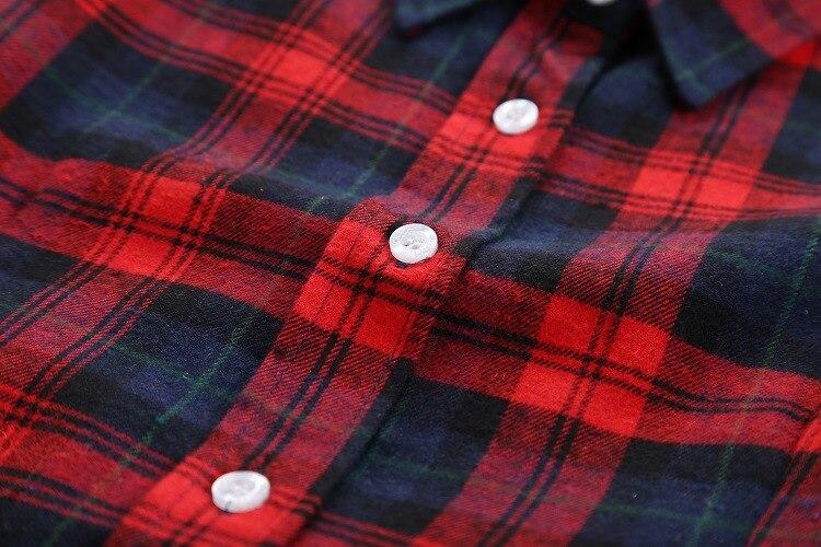 2018 Fashion Plaid Shirt Female College Style Women's Blouses Long Sleeve Flannel Shirt Plus Size Casual Blouses Shirts M-5XL 44