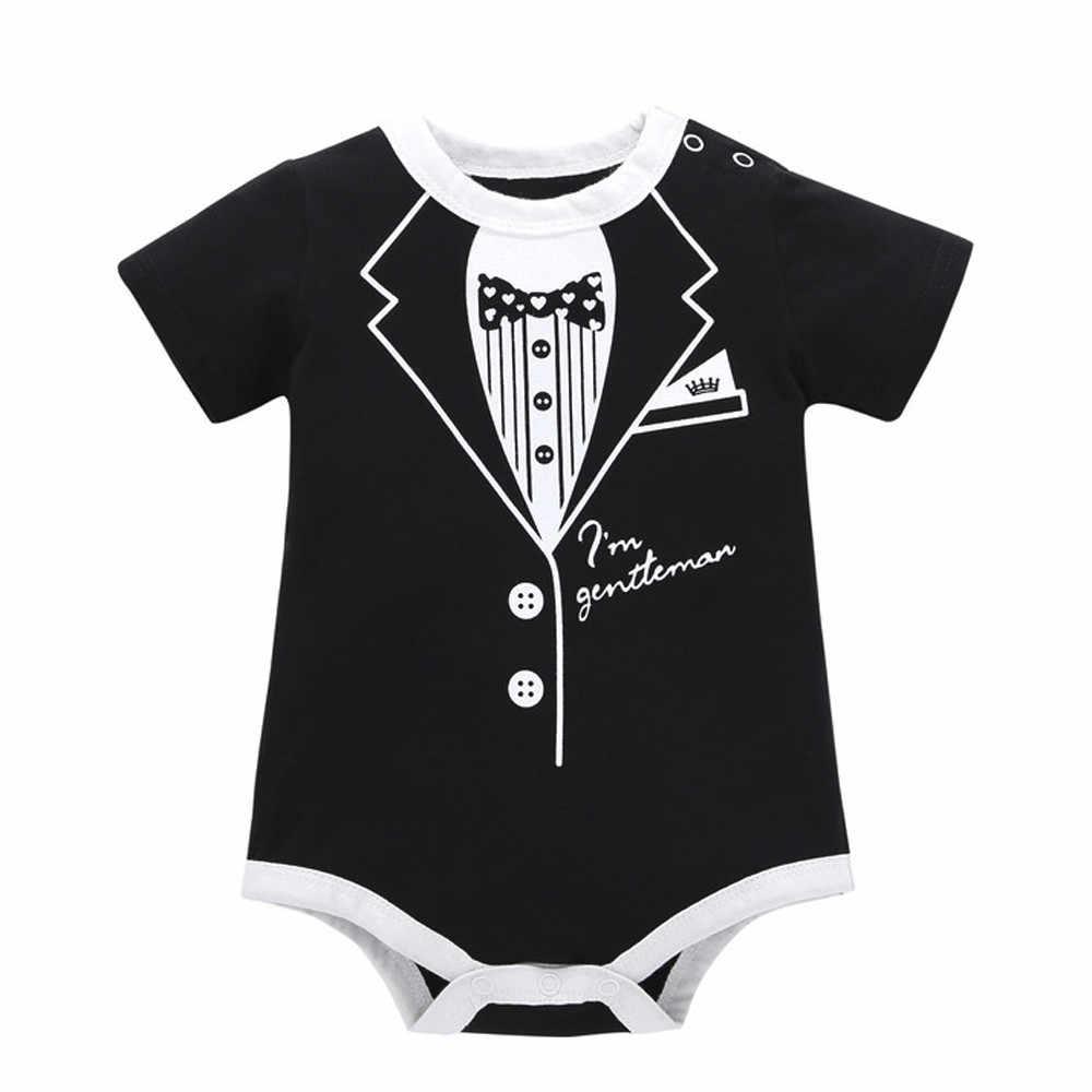 2019 nowy maluch niemowlę dzieci dziewczynka z nadrukiem chłopca ubrania na co dzień Romper Playsuit kombinezon codzienne nosić skrzydła dzieci odzież codzienna