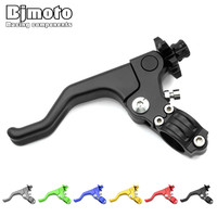 BJMOTO Universal 7 8 22MM Handlebar CNC Foldable Adjustable Cable Clutch Lever For Dirt Street Bike