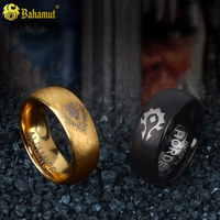 Men's jewelry 8mm WOW Tungsten Ring horde alliance ring for men new year gifts for women boys boyfriend black gold couple rings