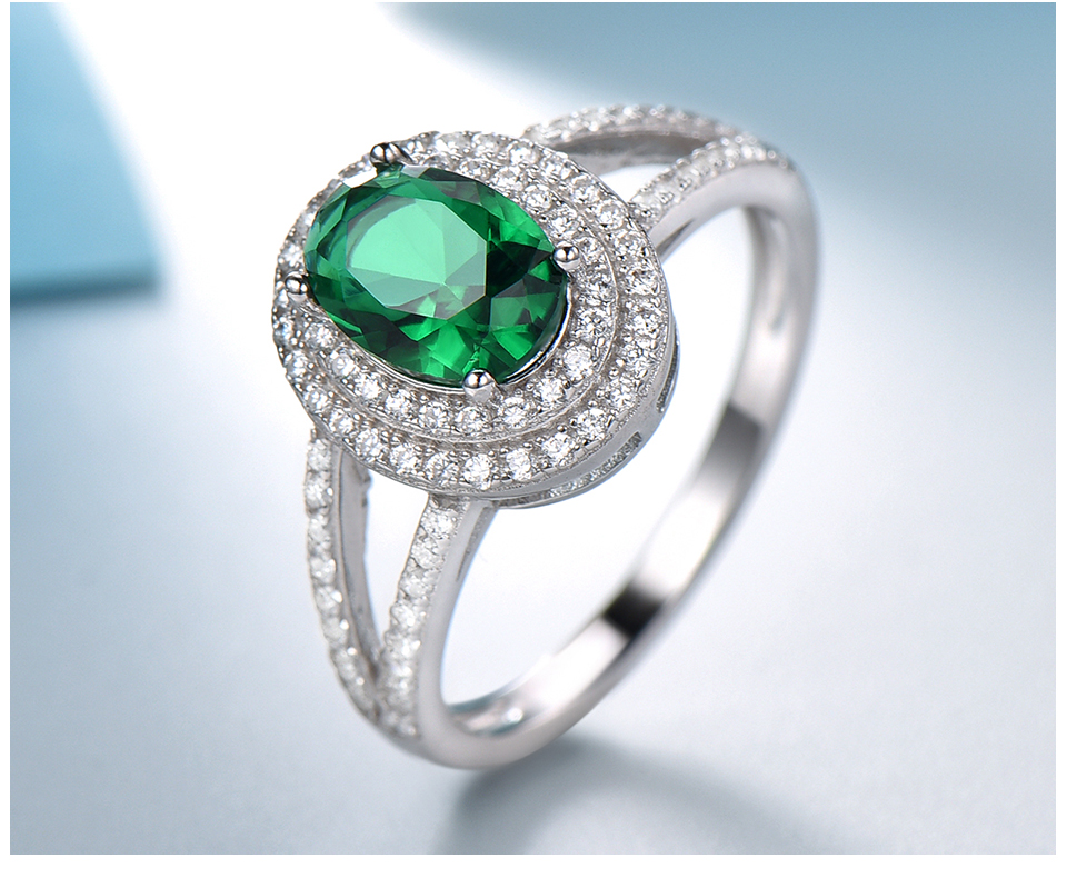 UMCHO-Emerald -sterling-silver-rings-for-women-RUJ097E-1-pc (5)