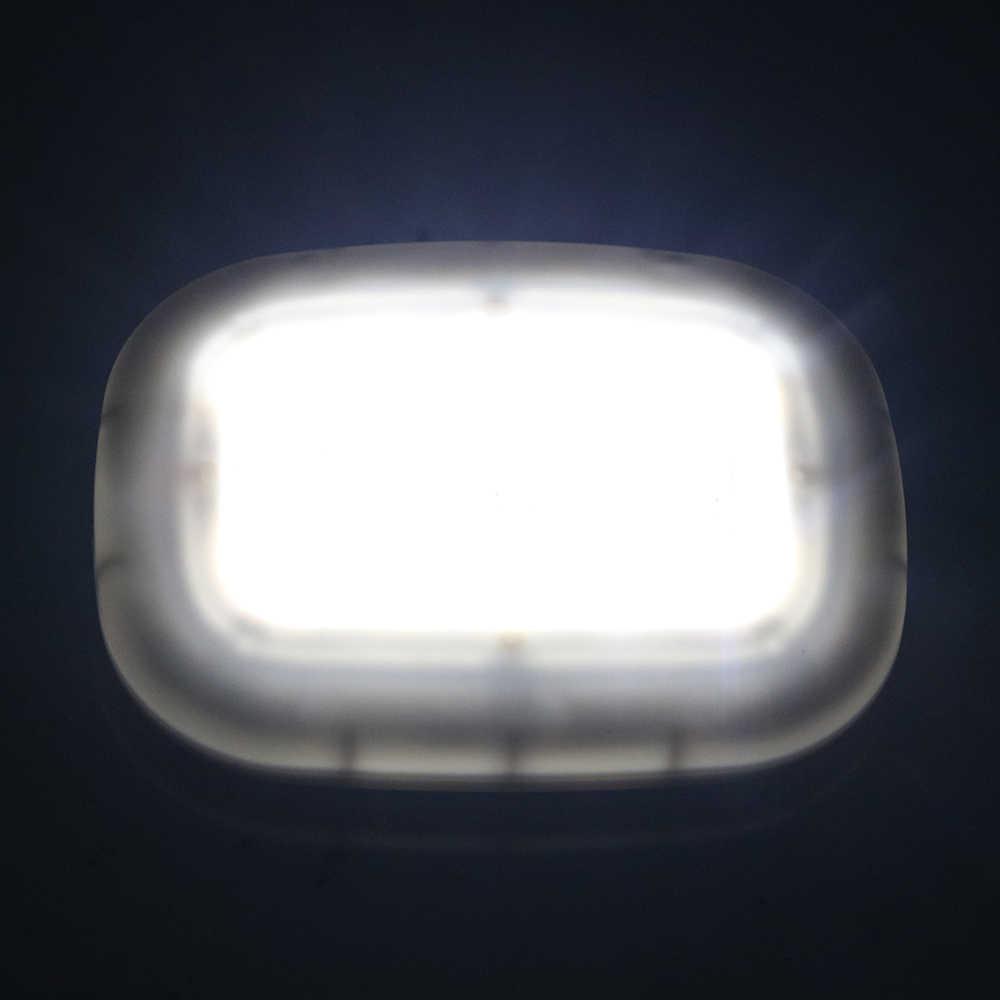 Forauto 10 led車両ルーフ天井ランプusb充電車の読書灯マグネットドームライトホワイト自動車インテリアライトユニバーサル