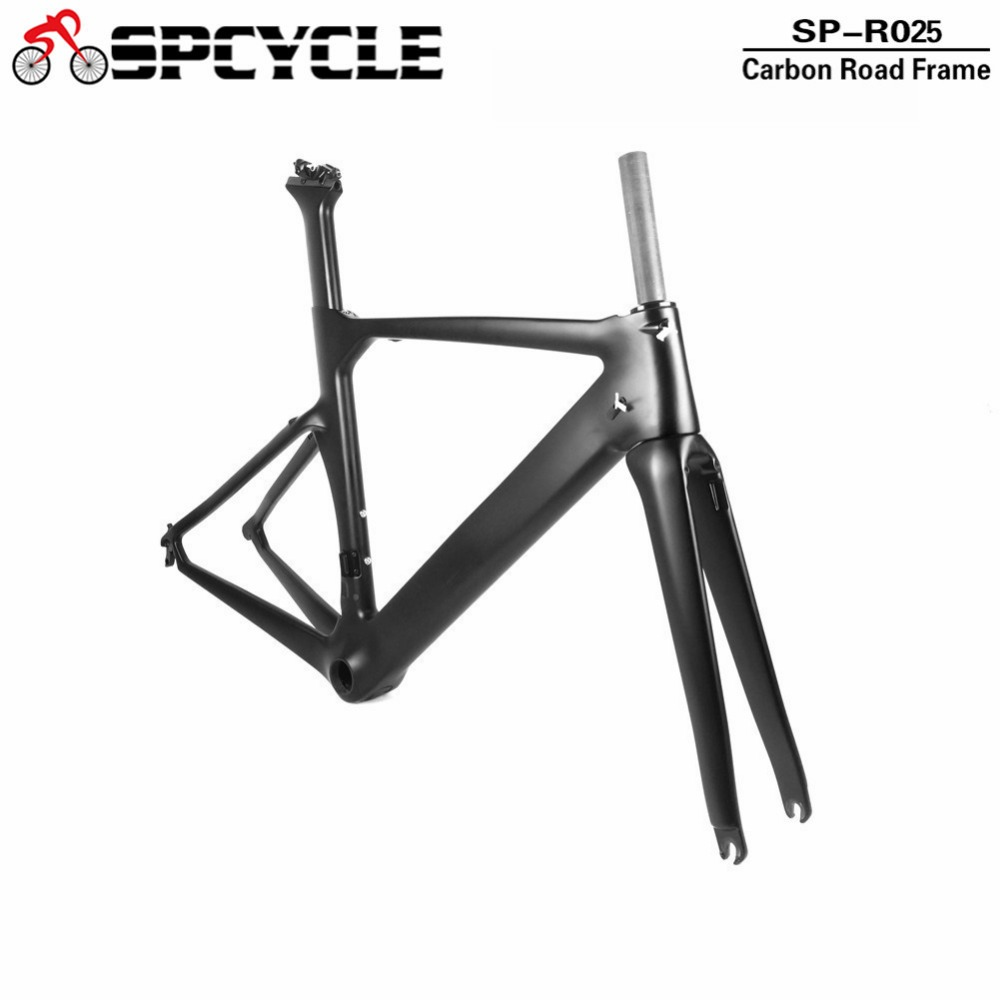T1000 Full Carbon Road Bicycle Frame 700C Aero Carbon Road Cycling Race Bicycle Frameset Di2 Mechanical Frame With BB386 Headset