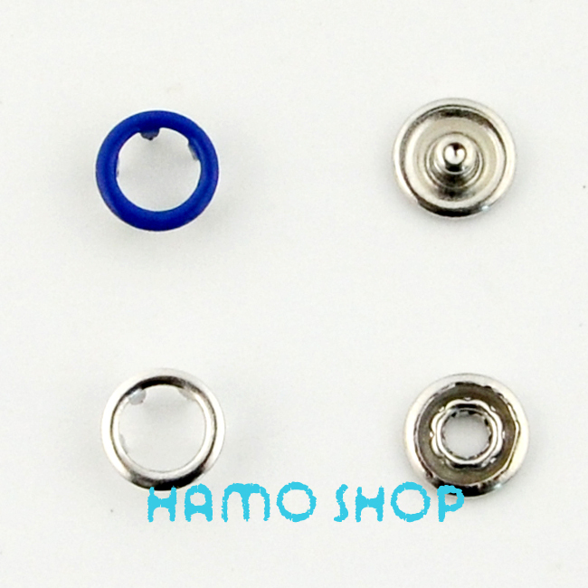 100pcs/lot Free Shipping 9.5mm Navy Metal Snap Button Prong Fastener Garment Accessoires Snap Ring Button