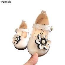 Weoneit/маленьких обувь весна и осень CN Размер 15-25 для маленькой принцессы кожаная обувь для маленьких девочек