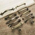 Europeu do vintage bronze punho da mobília Ferragem da Mobília roupeiro Porta do armário Armário maçanetas de gaveta para sapato