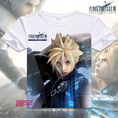 Free Shipping Final Fantasy COOL Anime T Shirt Tee Summer Short Sleeve T-shirt Tops Unisex Cosplay S-XXXL