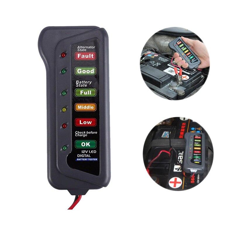 12 В автомобильный тестер на батарею ЖК-дисплей Цифровой тест индикатор на батарею анализатор авто система анализатор генератор Cranking