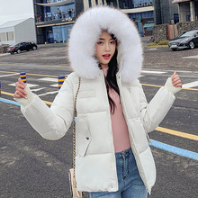 2019 Fashion Winter Parkas Mujer Warm Thicken Cotton Padded Jacket Women Short Coat Fur Collar Hooded Parka Female