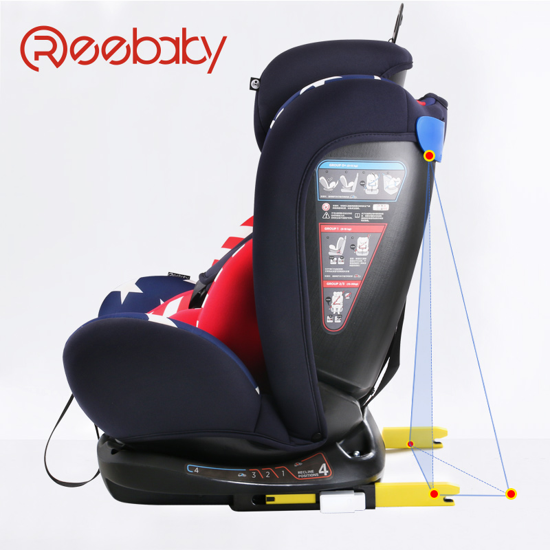 Car child safety seat ISOFIX interface 0-12 years old baby newborn can lie m rondeau a newborn child