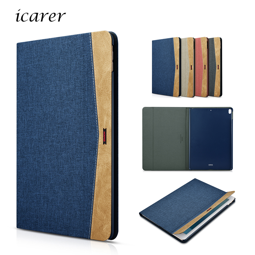 For IPad Pro 10 5 Inch Tablet Case Jean Cloth Leather Cover Slim Protective Stand Skin