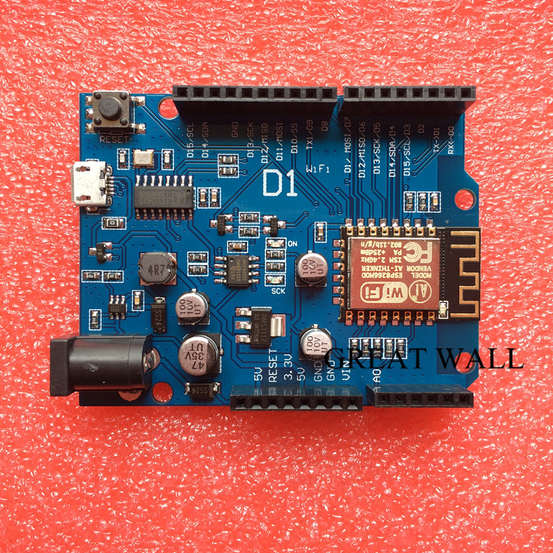 20PCS Smart Electronics ESP-12F WeMos D1 WiFi uno based ESP8266 shield for arduino Compatible IDE