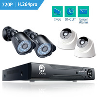 JOOAN 8ch Home Security Camera System 4pcs 720P 1280TVL IR Night Vision Outdoor Camera 1080N CCTV