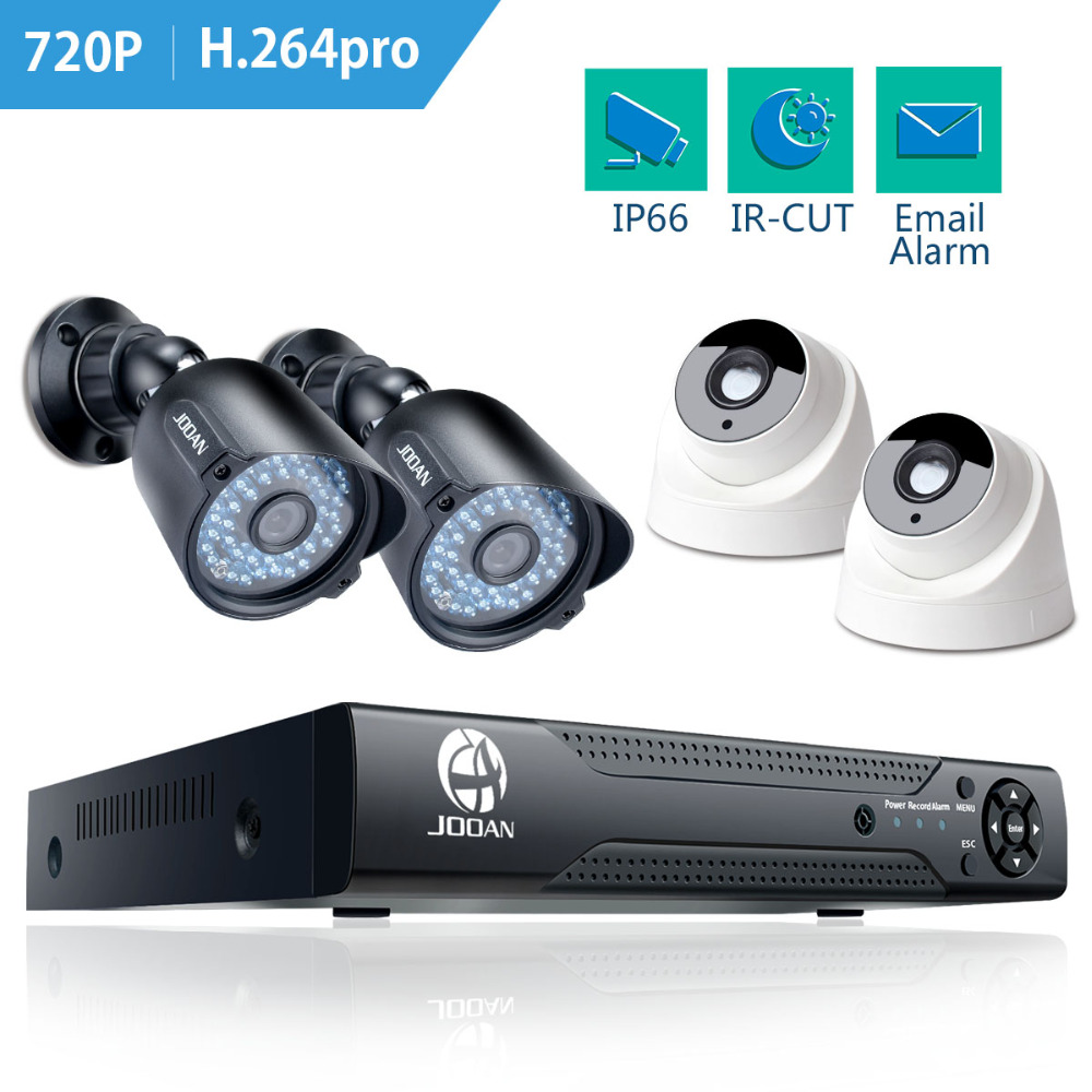 JOOAN 8ch Home Security Système de Caméra 4 pcs 720 P 1280TVL IR nuit Vision Caméra Extérieure 1080N CCTV AHD DVR Vedio Surveillance Kit