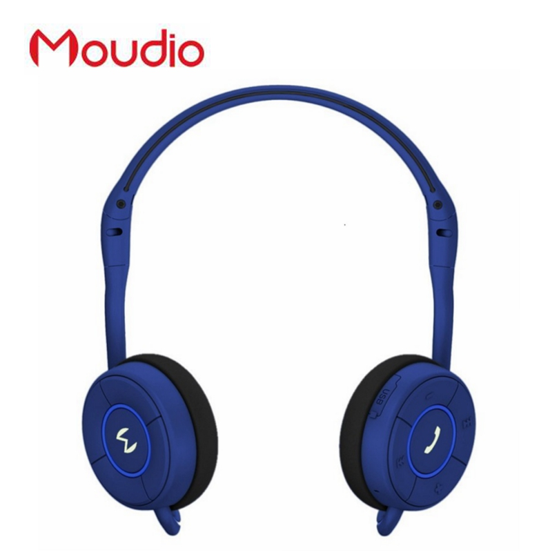Moudio Brand Sports Jogger Headphone Bluetooth Foldable Overear Earphones With Microphone For Pc Mobile Phones phones