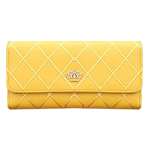 Women Clutch Long Purse Leather Wallet Card Holder Handbag Bags Yellow