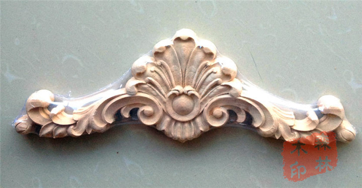 Wood dongyang wood carving fashion kitchen cabinet gate flower furniture  wood applique flower trim 35 12cm