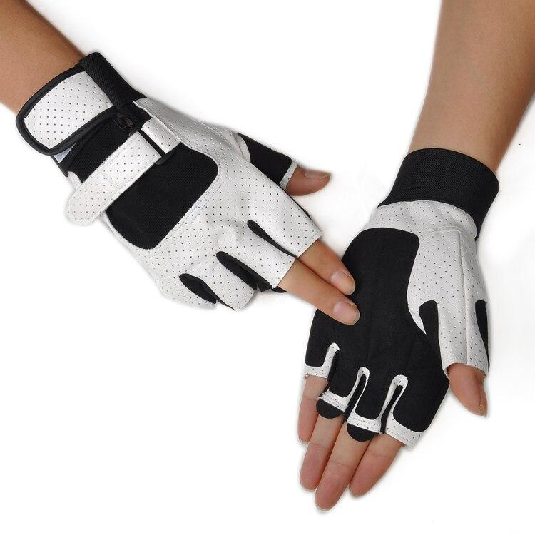 Fitness Salonu Spor Yarım Parmak Eldiven Crossfit eldiven Manşet uzatılmış Erkek Yatay Çubuk Dambıl Eğitim Spor Ekipmanları Çekin