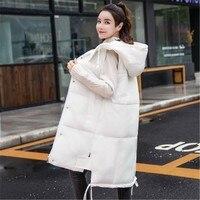 New Winter Women's Coat Vest Fashion Long Section Vest Large Size Casual Women Down Vest Jacket Plus Size Jacket XL XXXXL 5SA31