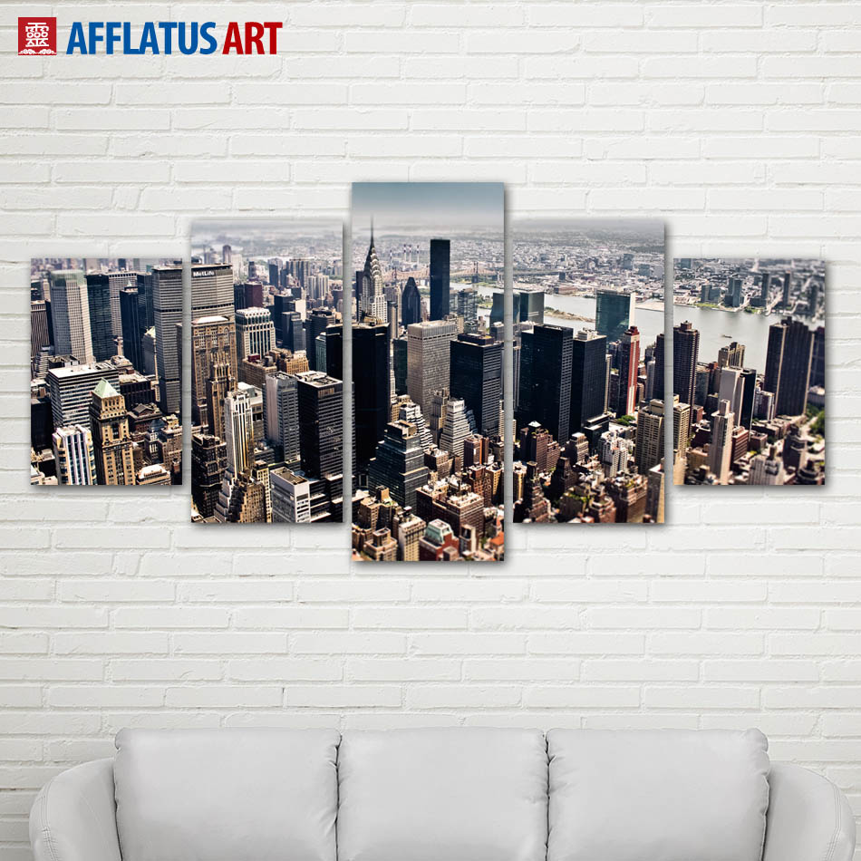 AFFLATUS Wandkunst Malerei New York Manhattan Landschaft Leinwand Malerei Leinwand Poster Mauerbilder...