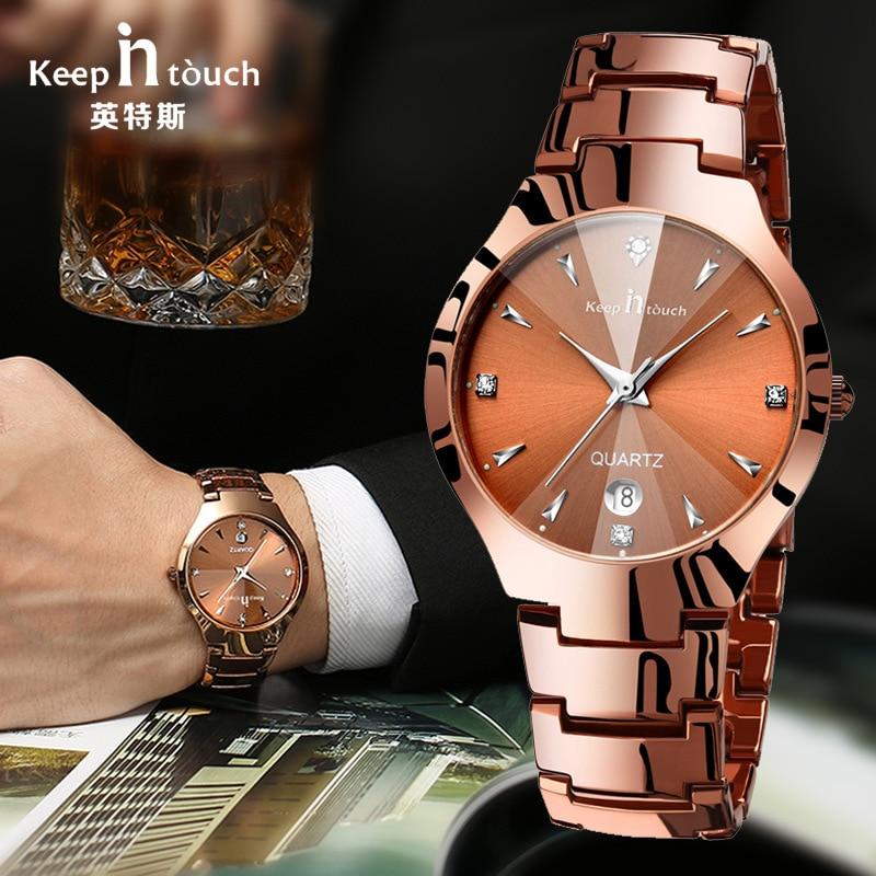 2018 Male Lady Fashion Steel Watch Luminous Double Calendar Couple Quartz WristWatch Men Clock  Montre Femme Woman Watch