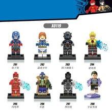 8pcs/Set Figures Building Blocks Sets china manufacturer Super hero flash atomic spiderman arkham knight bain suitable with Lego
