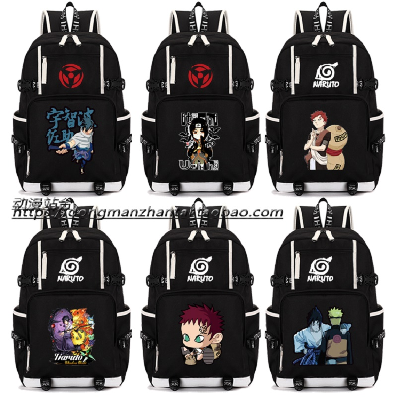 Anime Naruto backpack teenagers unisex preppy style luminous large capacity backpackAnime Naruto backpack teenagers unisex preppy style luminous large capacity backpack