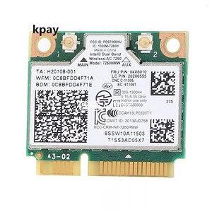 Image 1 - IBM Lenovo Thinkpad беспроводная wifi карта Intel wireless ac 7260 7260HMW 867 Мбит/с 802,11 ac Mini PCI E двухдиапазонный FRU: 04X6090