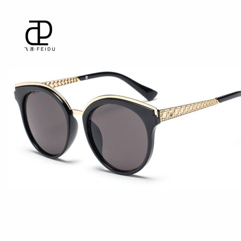 FEIDU высокое качество Солнцезащитные очки для женщин Для женщин Брендовая Дизайнерская обувь Очки зеркало Защита от солнца Очки Модные мета...